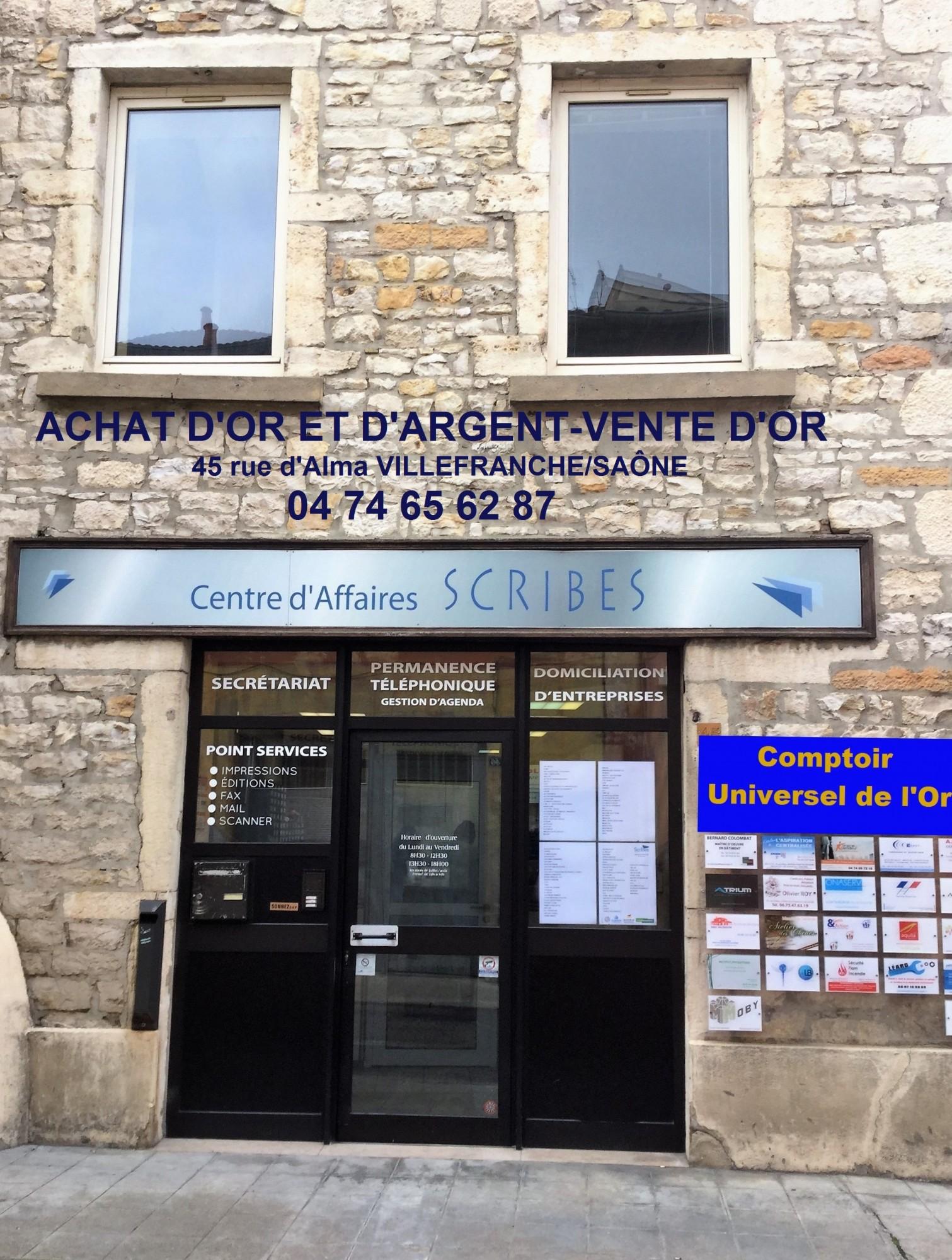 Les ouvertures de comptoir d'achat d'or les 3,4 et 5 janvier 2017 département de Saône-et-Loire