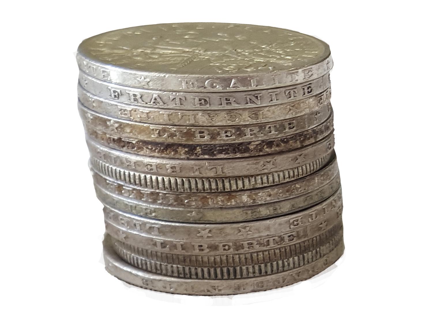 Achat pièces en argent Sâone et Loire Rhône