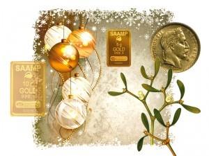 Offrir de l'or: le lingotin en cadeau de Noël, à découvrir aux comptoirs d'or Villefranche, Mâcon et Chalon