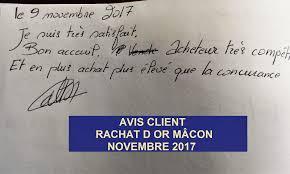 avis client achat or macon