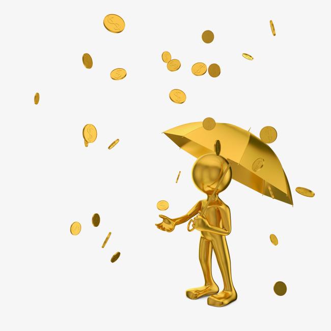 lingot d'or tombé du ciel