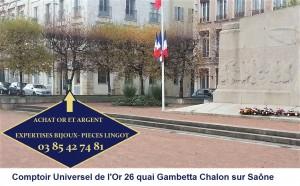 Pour venir au comptoir d'achat or et argent 26 quai gambetta Chalon su Saône, suivez le guide
