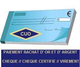 Quel est le mode de règlement pour mon rachat d'or à Villefranche/Saône 69, Mâcon et Chalon/Saône 71 ?