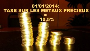 Paie t'on une taxe lors d'une vente d'or, de bijoux or et argent à Villefranche, Mâcon et Chalon sur Saône?